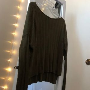 FOREVER 21: army green long sleeve